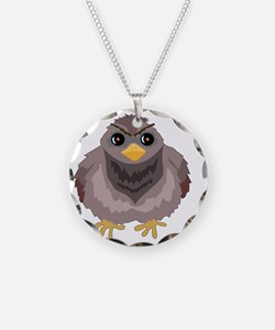 Fluffy Pigeon Necklace