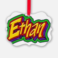 Ethan Graffiti Letters Name Desig Ornament