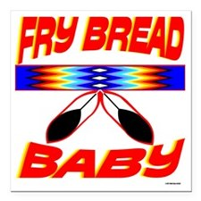 "NATIVE AMERICAN BABY Square Car Magnet 3"" x 3"""