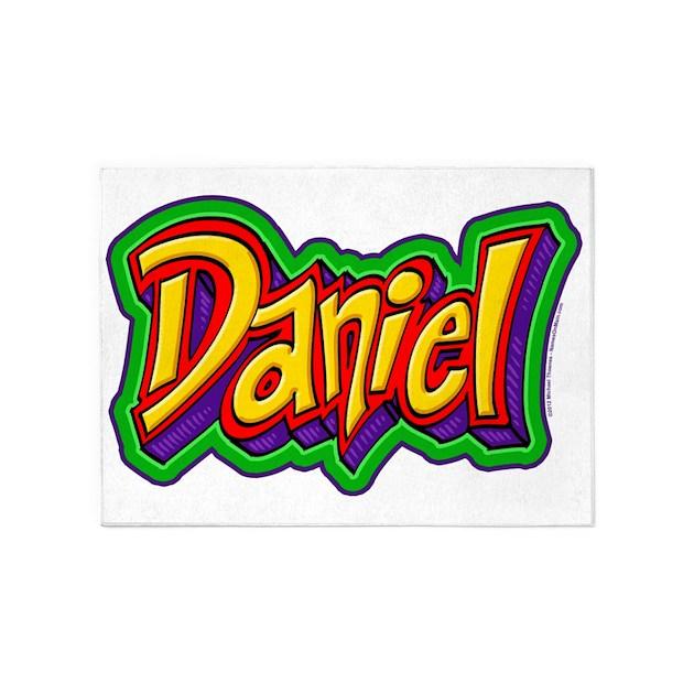 Daniel Graffiti Letters Name Design 5 X7 Area Rug By Admin