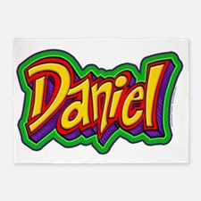 Daniel Graffiti Letters Name Design 5'x7'Area Rug