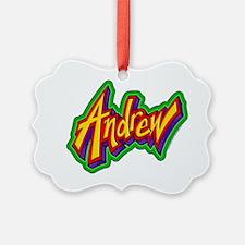 Andrew Graffiti Letters Name Desi Ornament