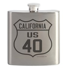 US Route 40 - California Flask