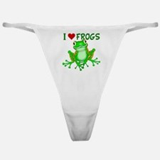 I  Love (Heart) Frogs Classic Thong