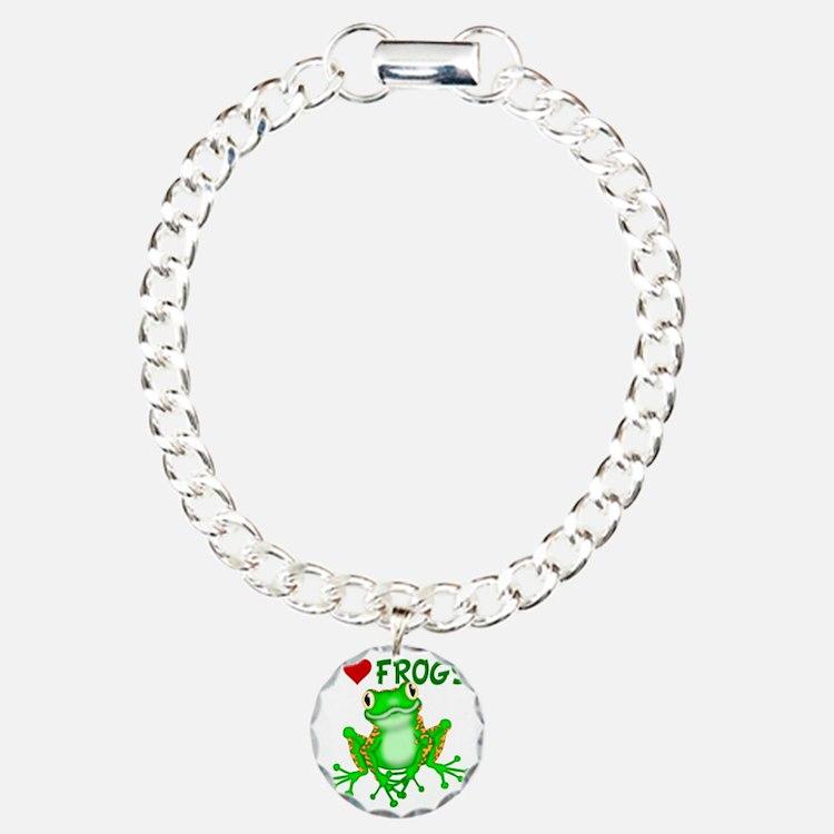 I  Love (Heart) Frogs Bracelet