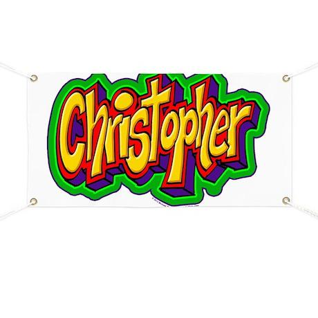 Christopher Graffiti Letters Name Design Banner