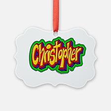 Christopher Graffiti Letters Name Ornament