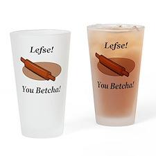 Lefse You Betcha Drinking Glass