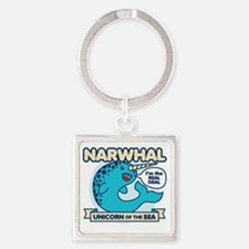 Narwhal Square Keychain