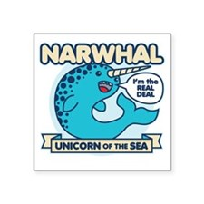 "Narwhal Square Sticker 3"" x 3"""