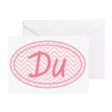 Pink Chevron Duathlon Greeting Card