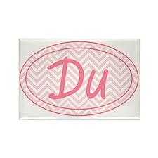 Pink Chevron Duathlon Rectangle Magnet