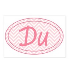 Pink Chevron Duathlon Postcards (Package of 8)