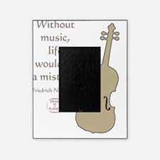 WITHOUT MUSIC Picture Frame