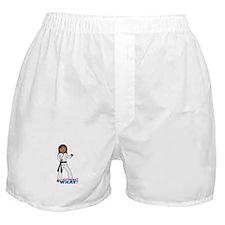Martial Arts Girl - Long Hair Boxer Shorts
