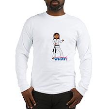 Martial Arts Girl - Long Hair Long Sleeve T-Shirt