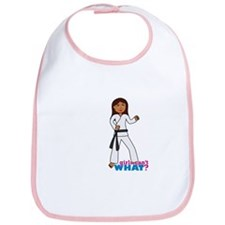 Martial Arts Girl - Long Hair Bib