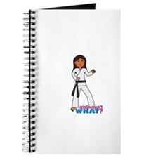 Martial Arts Girl - Long Hair Journal