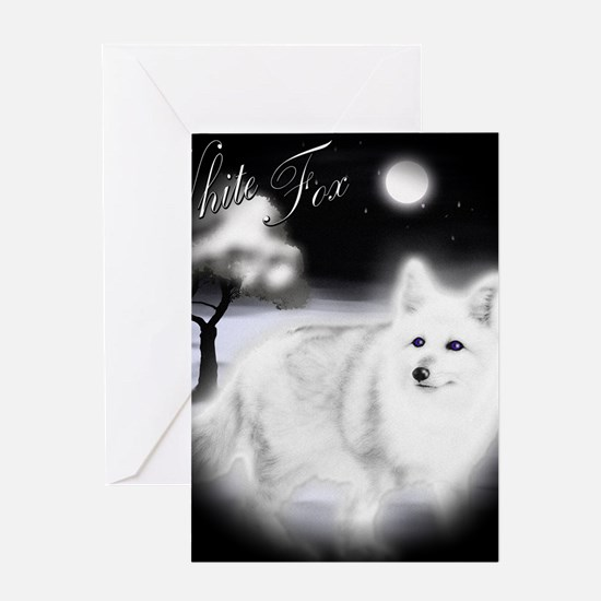 White Fox copy Greeting Card