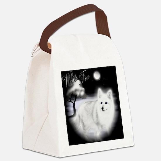 White Fox copy Canvas Lunch Bag