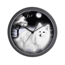 White Fox copy Wall Clock