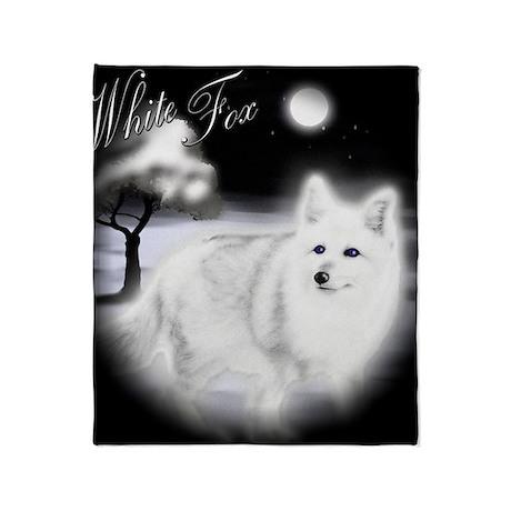 White Fox copy Throw Blanket
