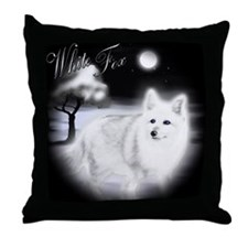 White Fox copy Throw Pillow