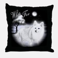 White Fox copy Throw Pillow