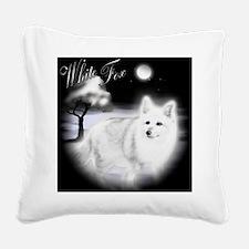 White Fox copy Square Canvas Pillow