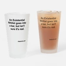 Existential Nihilist in a Bar Drinking Glass