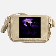 Wolf Howling copy Messenger Bag