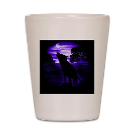 Wolf Howling copy Shot Glass