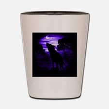 Wolf Howling copy Shot Glass