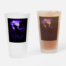 Wolf Howling copy Drinking Glass
