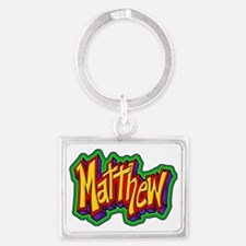Matthew Graffiti Letters Name D Landscape Keychain