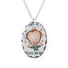 CHEMO BRAIN Necklace Oval Charm