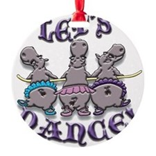 Lets Dance! (hippos) Ornament