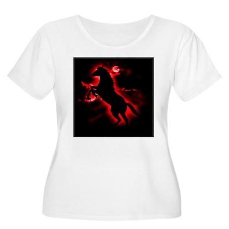 Fire Horse Women's Plus Size Scoop Neck T-Shirt