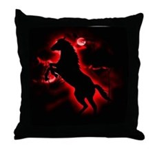 Fire Horse Throw Pillow
