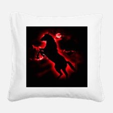 Fire Horse Square Canvas Pillow
