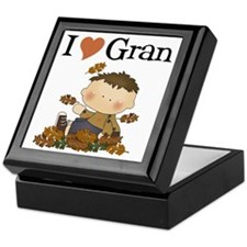 Autumn Boy I Love Gran Keepsake Box
