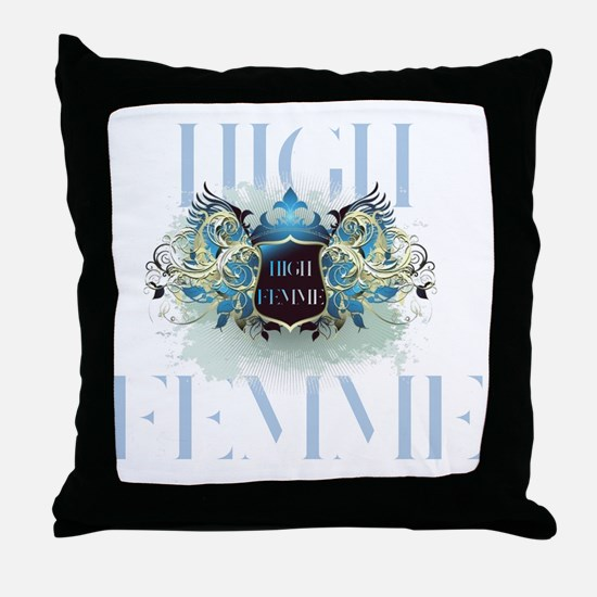 High Femme Shield On Ice Throw Pillow