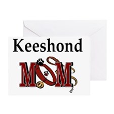 Keeshond Mom Greeting Card