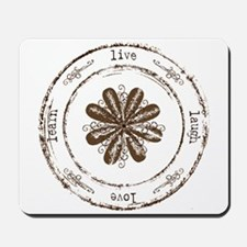live, laugh, love, learn Mousepad