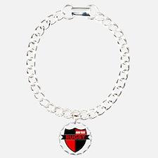 Rugby Shield Black Red Bracelet