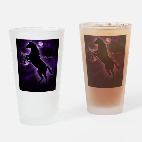 Lightning Horse Drinking Glass