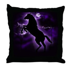 Lightning Horse Throw Pillow