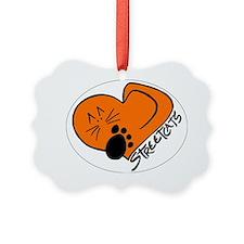 Streetcats logo white oval for da Ornament
