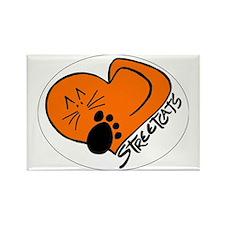 Streetcats logo white oval for da Rectangle Magnet