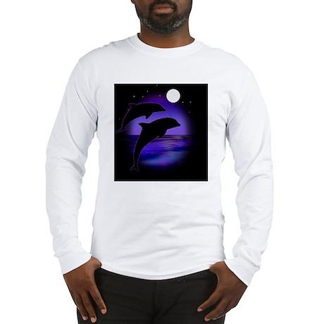 Dolphins bg Long Sleeve T-Shirt